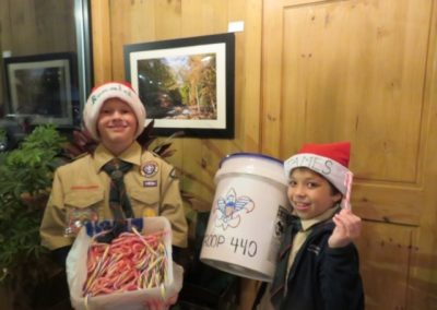 Two scouts fundraising at gilmer arts