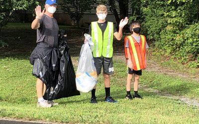 Emergency Preparedness mobilizing for litter pick up